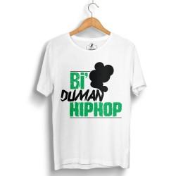 Anıl Piyancı - HollyHood - Anıl Piyancı Bi Duman Hiphop Beyaz T-shirt (Seçili Ürün)