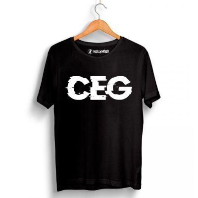 Ceg - HH - Ceg Tipografi Siyah T-shirt