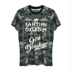 HH - Şanışer Tahtımı Özledim Kamuflaj T-shirt - Thumbnail