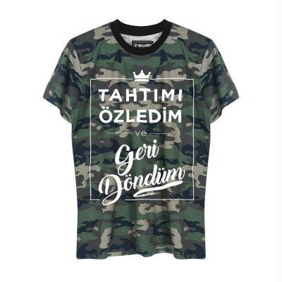 HH - Şanışer Tahtımı Özledim Kamuflaj T-shirt