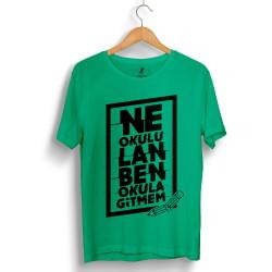 Contra - HollyHood - Contra Ne Okulu Lan Yeşil T-shirt (Seçili Ürün)