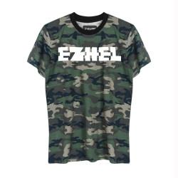 Ezhel - HollyHood - Ezhel Tipografi Kamuflaj T-shirt