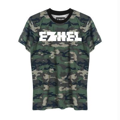 HH - Ezhel Tipografi Kamuflaj T-shirt