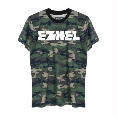 Ezhel - HH - Ezhel Tipografi Kamuflaj T-shirt