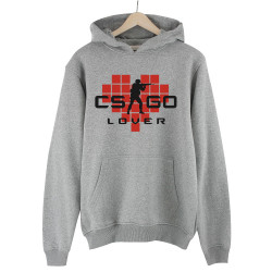 HollyHood - HollyHood - CS:GO Kırmızı Lover Gri Hoodie