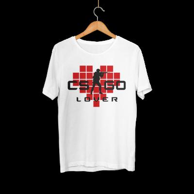 HH - CS:GO Kırmızı Lover Beyaz T-shirt