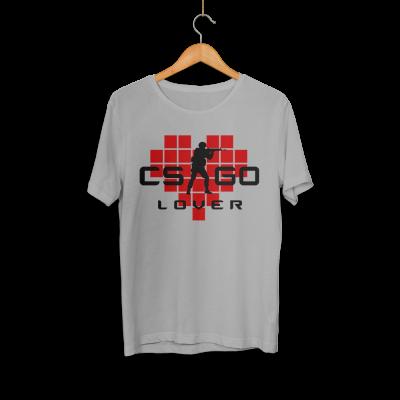 CS:GO - HH - CS:GO Kırmızı Lover Gri T-shirt