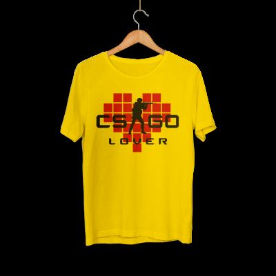 HH - CS:GO Kırmızı Lover Sarı T-shirt