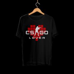 CS:GO - HH - CS:GO Kırmızı Lover Siyah T-shirt