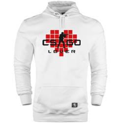 HH - CS:GO Kırmızı Lover Cepli Hoodie - Thumbnail
