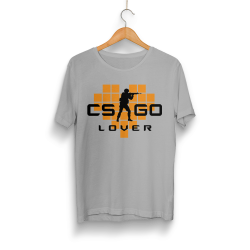 HollyHood - HollyHood - CS:GO Turuncu Lover Gri T-shirt
