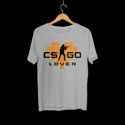 CS:GO - HH - CS:GO Turuncu Lover Gri T-shirt