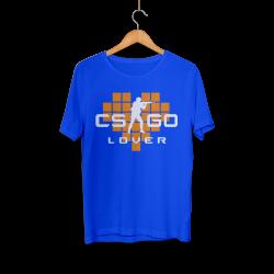 CS:GO - HH - CS:GO Turuncu Lover Mavi T-shirt