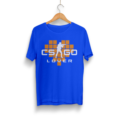 HH - CS:GO Turuncu Lover Mavi T-shirt