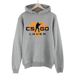 HollyHood - HollyHood - CS:GO Turuncu Lover Gri Hoodie