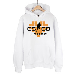 HollyHood - HollyHood - CS:GO Turuncu Lover Beyaz Hoodie