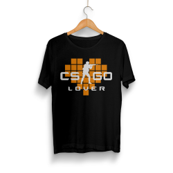 HollyHood - HollyHood - CS:GO Turuncu Lover Siyah T-shirt