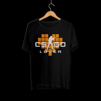 CS:GO - HH - CS:GO Turuncu Lover Siyah T-shirt