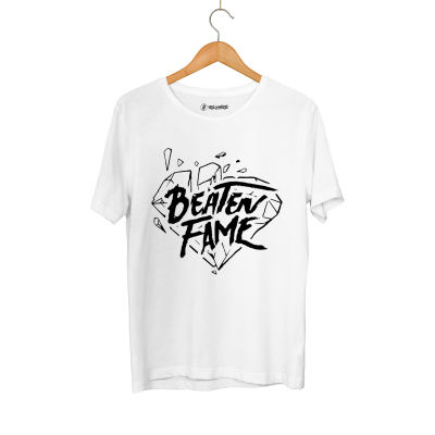 HH - Elçin Orçun Beaten Fame Diamond Beyaz T-shirt
