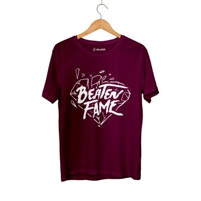 HH - Elçin Orçun Beaten Fame Diamond Bordo T-shirt