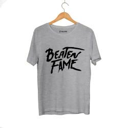 E.O. Beatenfame - HH - Elçin Orçun Beaten Fame Text Gri T-shirt