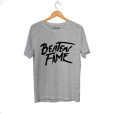 HH - Elçin Orçun Beaten Fame Text Gri T-shirt