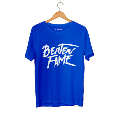 HH - Elçin Orçun Beaten Fame Text Mavi T-shirt