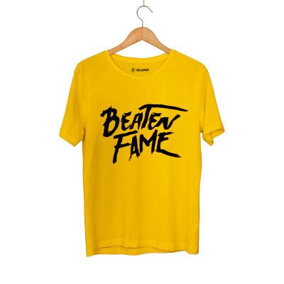 HH - Elçin Orçun Beaten Fame Text Sarı T-shirt