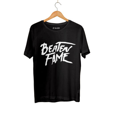 HH - Elçin Orçun Beaten Fame Text Siyah T-shirt