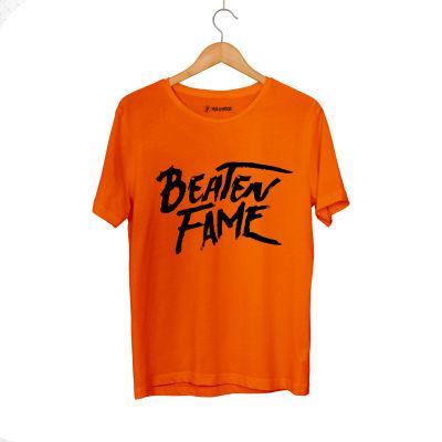 HH - Elçin Orçun Beaten Fame Text Turuncu T-shirt