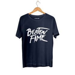 Beatenfame - HH - Elçin Orçun Beaten Fame Text Lacivert T-shirt