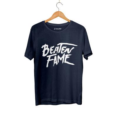 HH - Elçin Orçun Beaten Fame Text Lacivert T-shirt