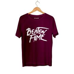 E.O. Beatenfame - HH - Elçin Orçun Beaten Fame Text Bordo T-shirt