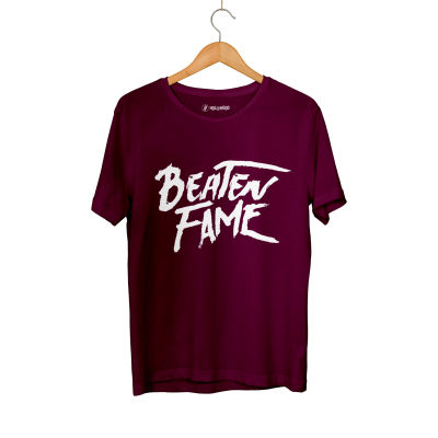 HH - Elçin Orçun Beaten Fame Text Bordo T-shirt