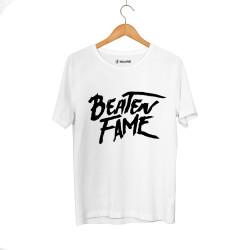 E.O. Beatenfame - HH - Elçin Orçun Beaten Fame Text Beyaz T-shirt