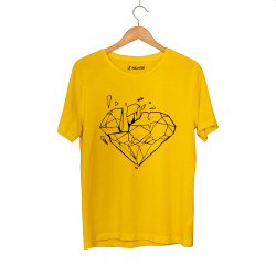 E.O. Beatenfame - HH - Elçin Orçun Diamond Sarı T-shirt
