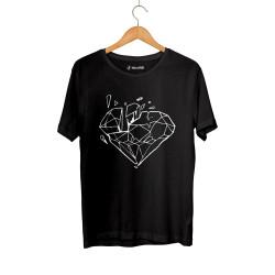 E.O. Beatenfame - HH - Elçin Orçun Diamond Siyah T-shirt