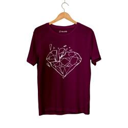 E.O. Beatenfame - HH - Elçin Orçun Diamond Bordo T-shirt