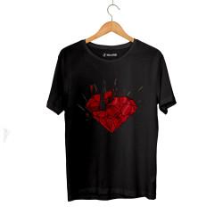 Beatenfame - HH - Elçin Orçun Red Diamond Siyah T-shirt