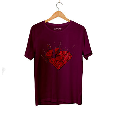 E.O. Beatenfame - HH - Elçin Orçun Red Diamond Bordo T-shirt
