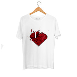 E.O. Beatenfame - HH - Elçin Orçun Red Diamond Beyaz T-shirt