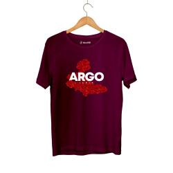 Gazapizm - HH - Gazapizm Argo İzmir Rose Bordo T-shirt