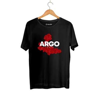 Gazapizm - HH - Gazapizm Argo İzmir Rose Siyah T-shirt