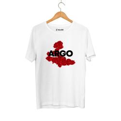 Gazapizm - HH - Gazapizm Argo İzmir Rose Beyaz T-shirt