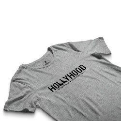 HH - Hollyhood Gun Gri T-shirt - Thumbnail