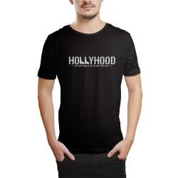 HH - Hollyhood Gun Siyah T-shirt - Thumbnail