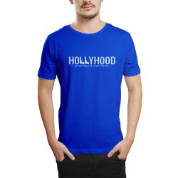 HH - Hollyhood Gun Mavi T-shirt - Thumbnail