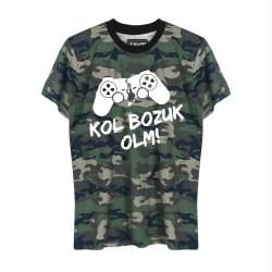 HH - Kol Bozuk Kamuflaj T-shirt - Thumbnail
