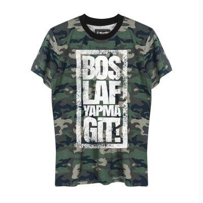 HH - Anıl Piyancı Boş Laf Yapma Git Kamuflaj T-shirt
