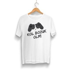 Gamer - HH - Kol Bozuk Beyaz T-shirt
